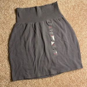 PINK Grey Bodycon Mini Skirt!